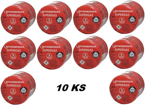 Butánová kartuša Supergas C200, 190g, sada 10ks