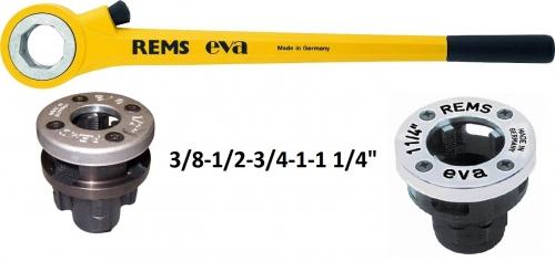 REMS Eva Set  R 3/8 - 1 1/4˝ v kartóne