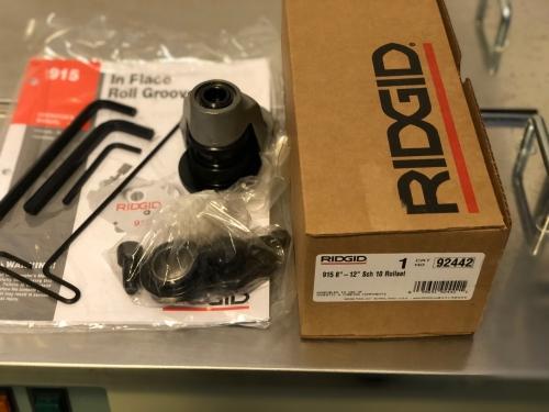 RIDGID 915, drážkovacia sada 8-12˝