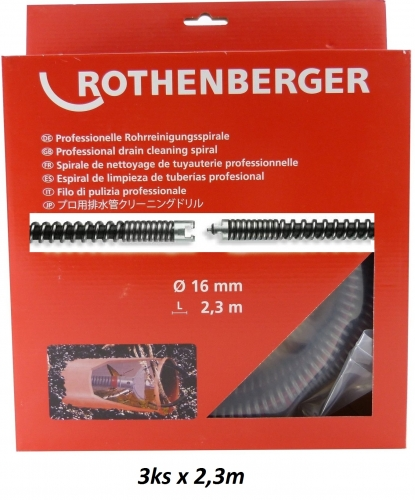 Rothenberger SMK Špirála (s výplňou) 16mm x 2,3m, 3ks