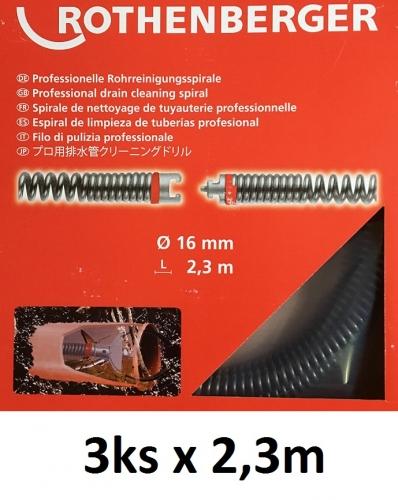 Rothenberger Špirála 16mm x 2,3m, Akcia 3ks